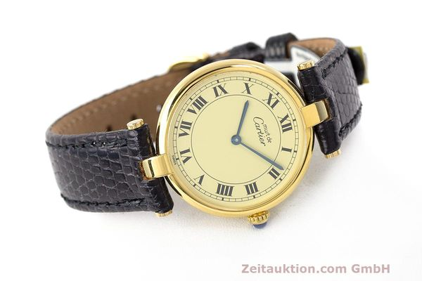 Used luxury watch Cartier Vermeil silver-gilt quartz Kal. 90  | 162010 03
