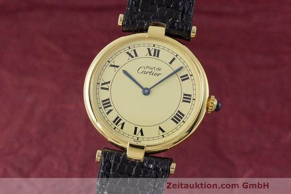 Used luxury watch Cartier Vermeil silver-gilt quartz Kal. 90  | 162010 04
