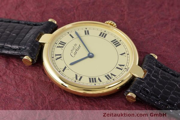 Used luxury watch Cartier Vermeil silver-gilt quartz Kal. 90  | 162010 13