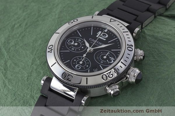 Used luxury watch Cartier Pasha chronograph steel automatic Kal. 8630 ETA 7753 Ref. 2995  | 162015 01