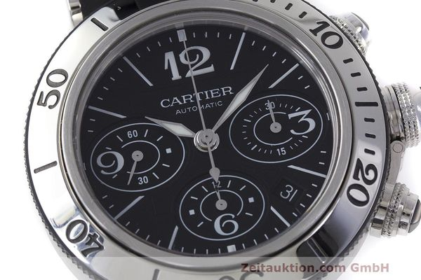 Used luxury watch Cartier Pasha chronograph steel automatic Kal. 8630 ETA 7753 Ref. 2995  | 162015 02