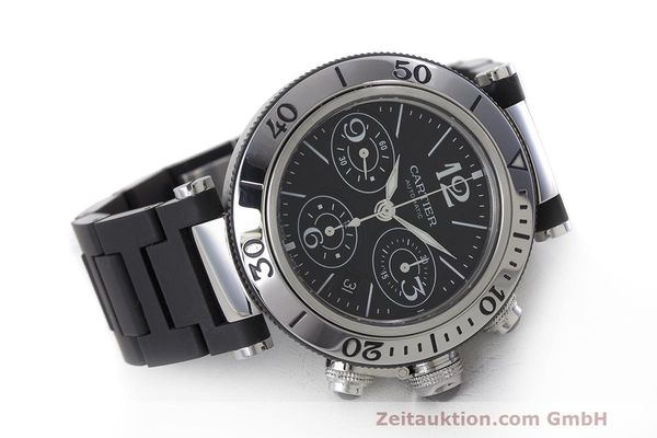 Used luxury watch Cartier Pasha chronograph steel automatic Kal. 8630 ETA 7753 Ref. 2995  | 162015 03