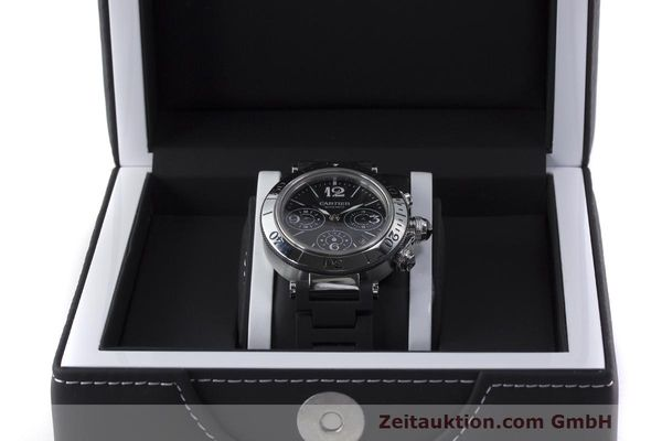Used luxury watch Cartier Pasha chronograph steel automatic Kal. 8630 ETA 7753 Ref. 2995  | 162015 07