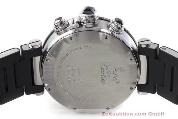 Used luxury watch Cartier Pasha chronograph steel automatic Kal. 8630 ETA 7753 Ref. 2995  | 162015 09