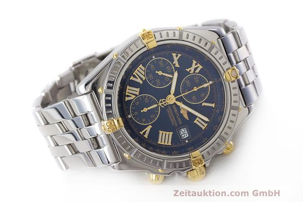 Used luxury watch Breitling Crosswind chronograph steel / gold automatic Kal. B13 ETA 7750 Ref. B13355  | 162016 03