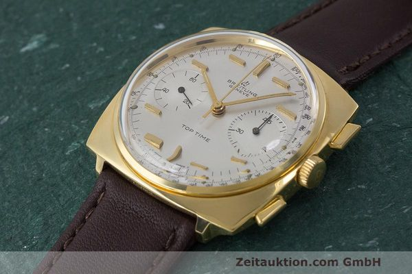 Used luxury watch Breitling Top Time chronograph gold-plated manual winding Kal. Valj. 7730 Ref. 2008 VINTAGE  | 162043 01