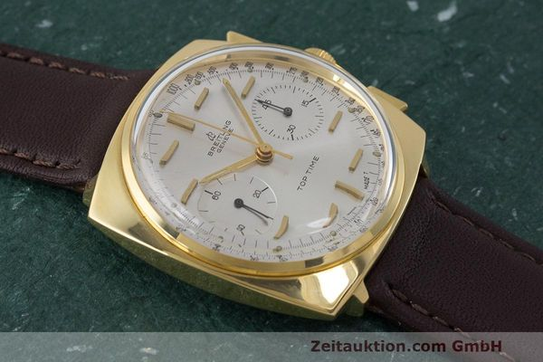 Used luxury watch Breitling Top Time chronograph gold-plated manual winding Kal. Valj. 7730 Ref. 2008 VINTAGE  | 162043 12