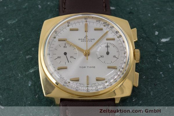 Used luxury watch Breitling Top Time chronograph gold-plated manual winding Kal. Valj. 7730 Ref. 2008 VINTAGE  | 162043 13