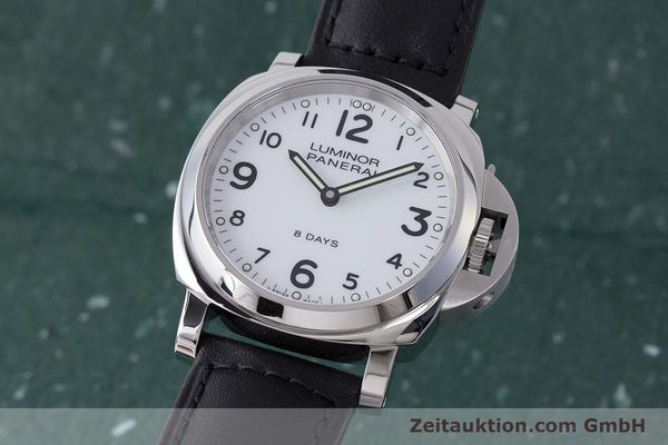 PANERAI LUMINOR BASE 8 DAYS STAHL HANDAUFZUG PAM00561 LIMITIERT #1 LP: 6400,- Euro [162044]