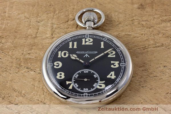 Used luxury watch Jaeger Le Coultre Pocket Watch chromed brass manual winding Kal. 46712 VINTAGE  | 162045 02