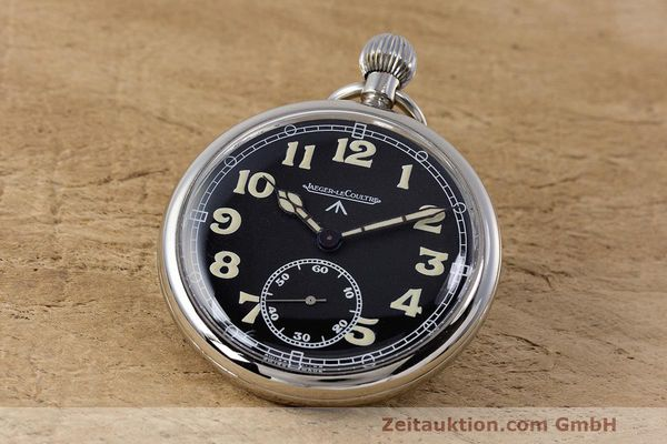 JAEGER LE COULTRE POCKET WATCH CHROMED BRASS MANUAL WINDING KAL. 46712 VINTAGE [162045]