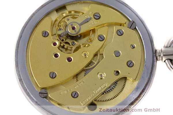 Used luxury watch Jaeger Le Coultre Pocket Watch chromed brass manual winding Kal. 46712 VINTAGE  | 162045 09