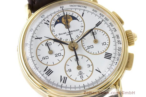 Used luxury watch Baume & Mercier * chronograph 18 ct gold manual winding Kal. LWO 1883 Ref. 86102.099  | 162046 02