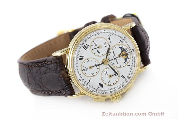 Used luxury watch Baume & Mercier * chronograph 18 ct gold manual winding Kal. LWO 1883 Ref. 86102.099  | 162046 03