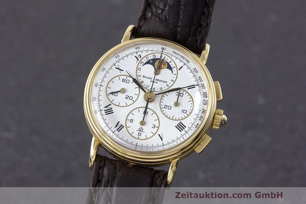 Used luxury watch Baume & Mercier * chronograph 18 ct gold manual winding Kal. LWO 1883 Ref. 86102.099  | 162046 04