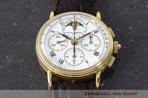 Used luxury watch Baume & Mercier * chronograph 18 ct gold manual winding Kal. LWO 1883 Ref. 86102.099  | 162046 15