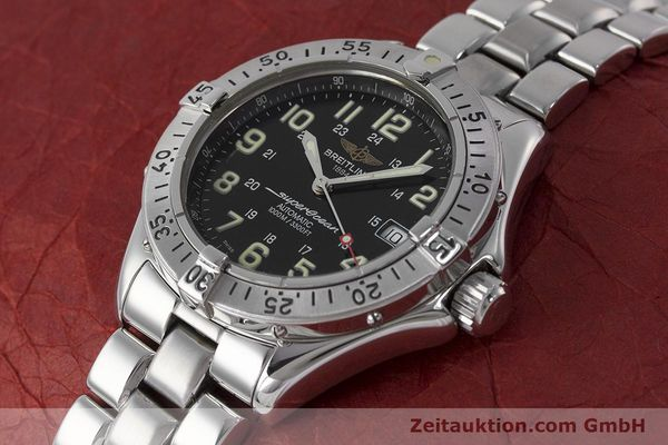 Used luxury watch Breitling Superocean steel automatic Kal. B17 ETA 2824-2 Ref. A17040  | 162048 01