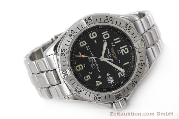 Used luxury watch Breitling Superocean steel automatic Kal. B17 ETA 2824-2 Ref. A17040  | 162048 03