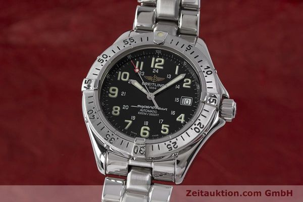 Used luxury watch Breitling Superocean steel automatic Kal. B17 ETA 2824-2 Ref. A17040  | 162048 04