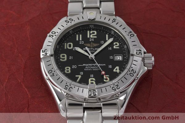 Used luxury watch Breitling Superocean steel automatic Kal. B17 ETA 2824-2 Ref. A17040  | 162048 17