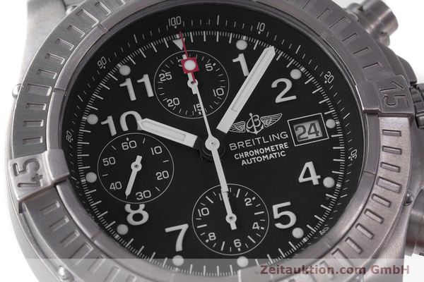 Used luxury watch Breitling Avenger chronograph titanium automatic Kal. B13 ETA 7750 Ref. E13360  | 162050 02