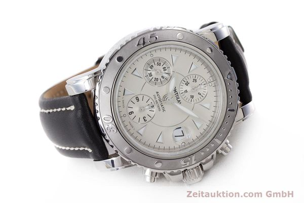 Used luxury watch Montblanc Sport Chronograph chronograph steel automatic Kal. 4810501 Eta 7750 Ref. 7034  | 162053 03