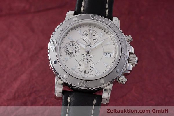 Used luxury watch Montblanc Sport Chronograph chronograph steel automatic Kal. 4810501 Eta 7750 Ref. 7034  | 162053 04