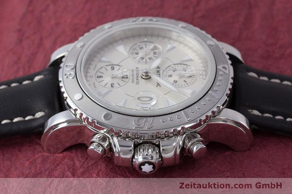 Used luxury watch Montblanc Sport Chronograph chronograph steel automatic Kal. 4810501 Eta 7750 Ref. 7034  | 162053 05