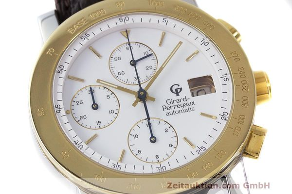 Used luxury watch Girard Perregaux 7000 chronograph steel / gold automatic Kal. 800-114 Ref. 7000  | 162054 02