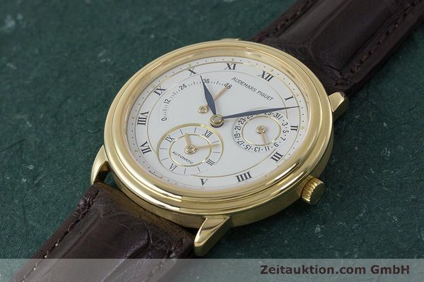 Used luxury watch Audemars Piguet Dual Time 18 ct gold automatic Kal. 2129  | 162072 01