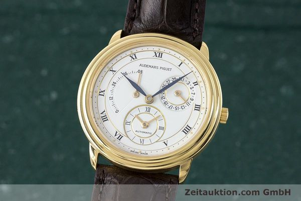 AUDEMARS PIGUET 18K GOLD DUAL TIME GANGRESERVE HERRENUHR C-77721 VP: 33800,- Euro [162072]