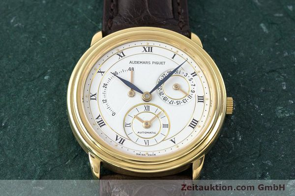 Used luxury watch Audemars Piguet Dual Time 18 ct gold automatic Kal. 2129  | 162072 16