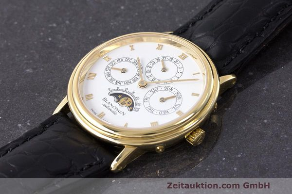 Used luxury watch Blancpain Perpetual Calendar 18 ct gold automatic Kal. 953  | 162083 01