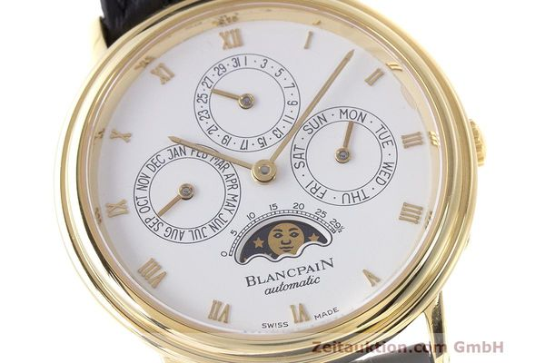 Used luxury watch Blancpain Perpetual Calendar 18 ct gold automatic Kal. 953  | 162083 02