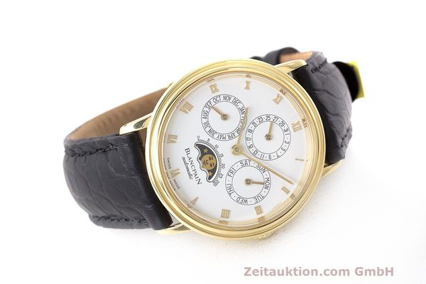 Used luxury watch Blancpain Perpetual Calendar 18 ct gold automatic Kal. 953  | 162083 03