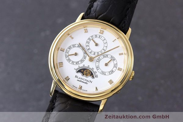 Used luxury watch Blancpain Perpetual Calendar 18 ct gold automatic Kal. 953  | 162083 04