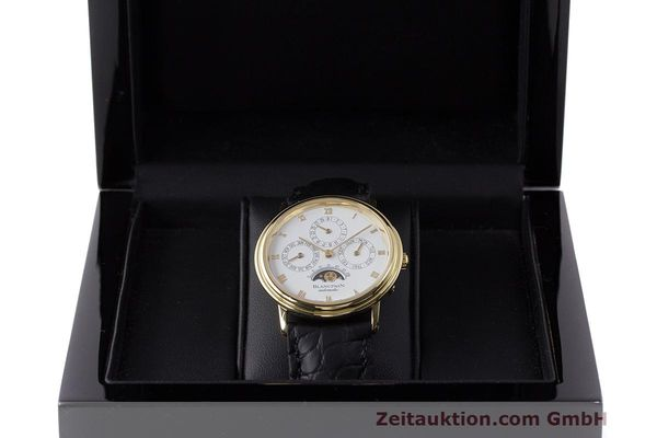 Used luxury watch Blancpain Perpetual Calendar 18 ct gold automatic Kal. 953  | 162083 07