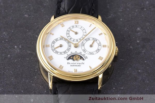 Used luxury watch Blancpain Perpetual Calendar 18 ct gold automatic Kal. 953  | 162083 16