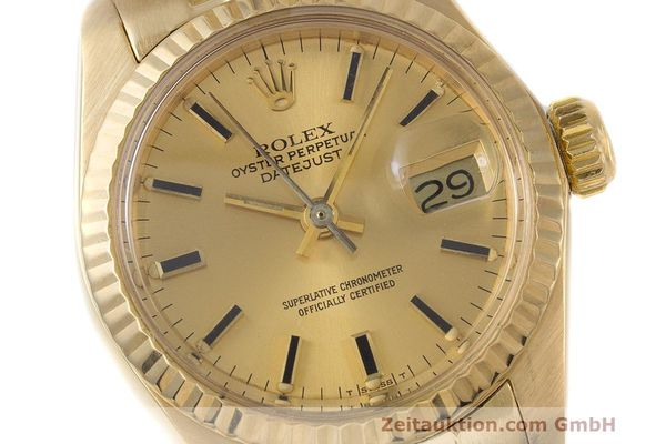 Used luxury watch Rolex Lady Datejust 18 ct gold automatic Kal. 2030 Ref. 6917  | 162085 02