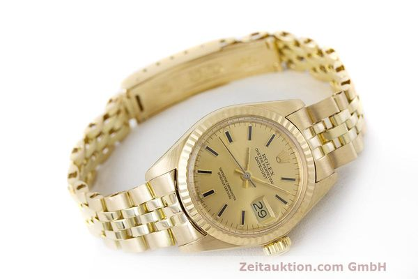 Used luxury watch Rolex Lady Datejust 18 ct gold automatic Kal. 2030 Ref. 6917  | 162085 03