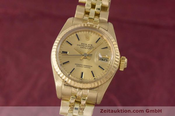 ROLEX LADY 18K (0,750) GOLD DATEJUST AUTOMATIK DAMENUHR 6917 VP: 20600,- EURO [162085]