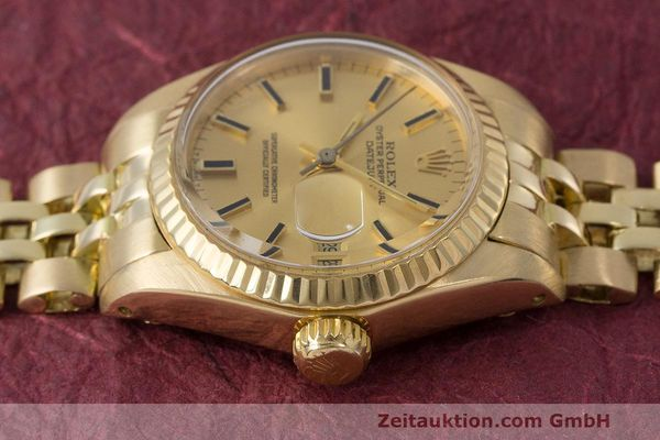 Used luxury watch Rolex Lady Datejust 18 ct gold automatic Kal. 2030 Ref. 6917  | 162085 05