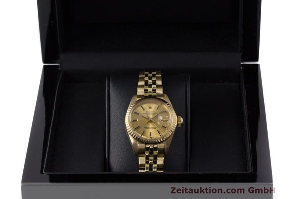 Used luxury watch Rolex Lady Datejust 18 ct gold automatic Kal. 2030 Ref. 6917  | 162085 07