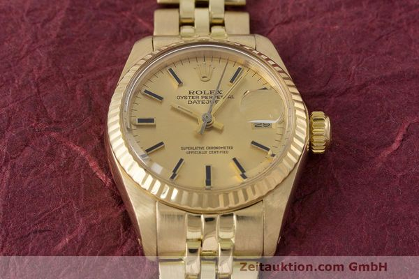 Used luxury watch Rolex Lady Datejust 18 ct gold automatic Kal. 2030 Ref. 6917  | 162085 16