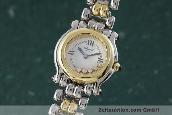 CHOPARD LADY HAPPY SPORT DIAMANTEN DAMENUHR GOLD / STAHL 8245 VP: 13930,- EURO [162089]