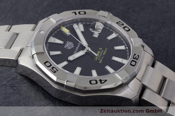 Used luxury watch Tag Heuer Aquaracer steel automatic Kal. 5 Sellita SW200-1 Ref. WAY2010  | 162092 15