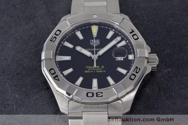 Used luxury watch Tag Heuer Aquaracer steel automatic Kal. 5 Sellita SW200-1 Ref. WAY2010  | 162092 16