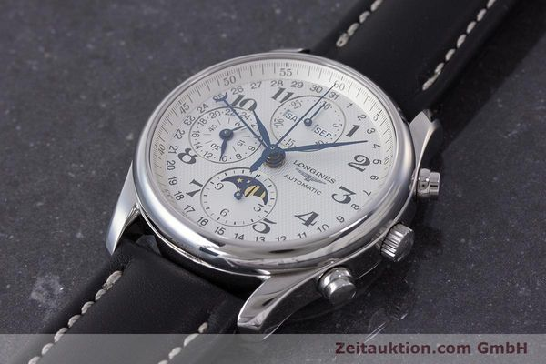 Used luxury watch Longines Master Collection chronograph steel automatic Kal. L678.2 Ref. L2.673.4  | 162097 01
