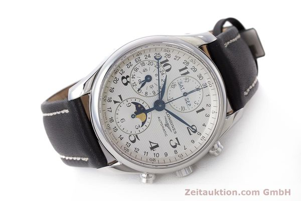 Used luxury watch Longines Master Collection chronograph steel automatic Kal. L678.2 Ref. L2.673.4  | 162097 03