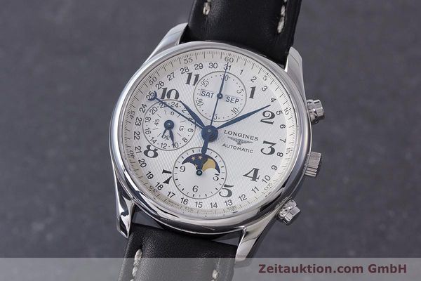 Used luxury watch Longines Master Collection chronograph steel automatic Kal. L678.2 Ref. L2.673.4  | 162097 04